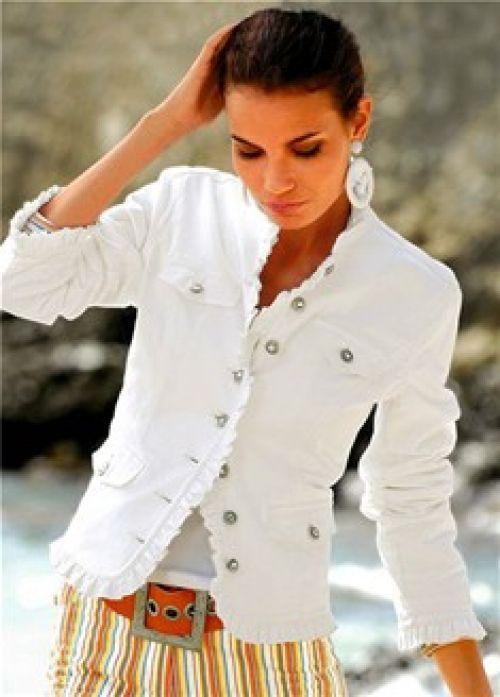 Клепки джинсовая куртка